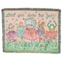 China SALE Little Girls Dance and Twirl Tapestry Throw wholesale