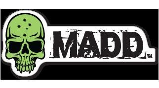 China Madd Gear Logo Sticker Green