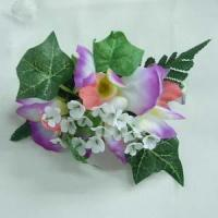 China Hair Clip w/4 Orchid & Gypso on sale
