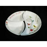 China Porcelain Snack Plate with Wooden Tray with Gift Box wholesale