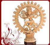 China White Wood Carved Nataraja Sculpture wholesale