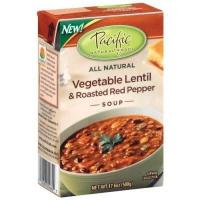China Pacific Natural Foods All Natural Soup, Vegetable Lentil & Roasted Red Pepper Soup 17.6 oz (500 g) on sale