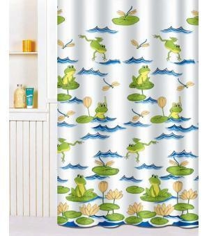 Fabric shower curtains lovely frog paddle fabric shower curtain y3015