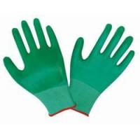 China PN004 Green 13G nylon liner, with green PVC palm coated gloves on sale