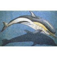 China Glass Mosaic Tile Hand-cut Mural wholesale