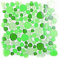 China VC087Pebble Glass Mosaic, Green Color on sale