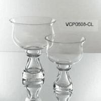 China 6 x 8 Bowl Glass Vase on Stand - Case of 12 on sale