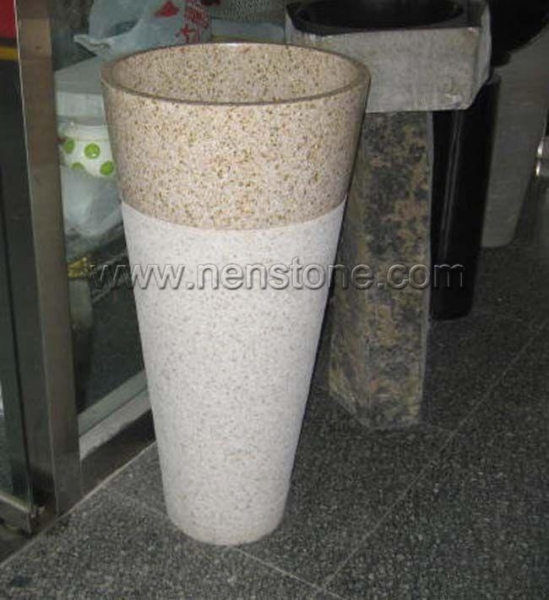 Stone Pedestal Sink : Stone Sinks Yellow Granite Pedestal Basins - cheap Stone Sinks Yellow ...