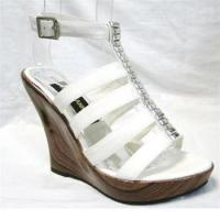 China G GIRL WHITE WEDGE FOR WOMEN on sale