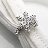 China Shimmering Snowflake - Diamond Napkin Rings - 4 Pack wholesale