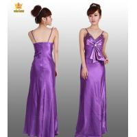 China 7577# Purple satin evening gowns wholesale