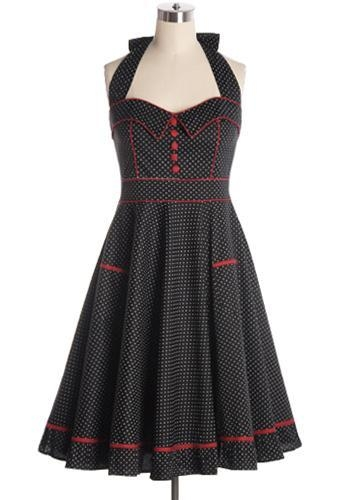 Quality Clothing All Shook Up Dress in Black for sale