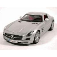 China 2011 Mercedes Benz SLS AMG diecast model car 1:18 scale die cast by Maisto - Silver on sale