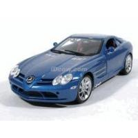 China 2007 Mercedes Benz McLaren SLR diecast model car 1:18 scale by Maisto - Metallic Blue wholesale