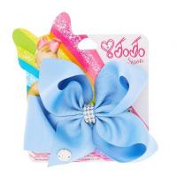 Buy cheap JoJo Siwa Small Rhinestone Keeper Cornflower Blue Hair Bow from wholesalers