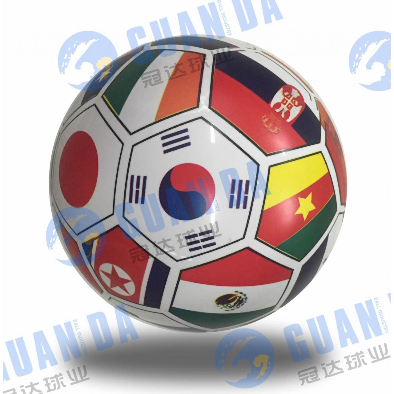 9 inches print national flag ball