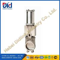Stainless Steel 4 in Knife Gate Valve Metal Seat, underground gate valve