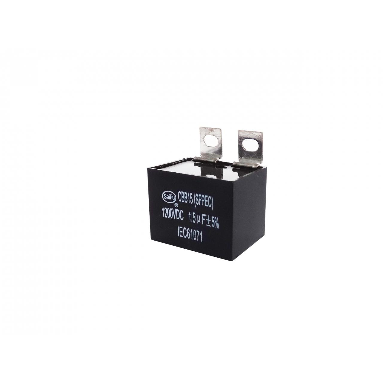 China CBB15 1200VAC 1.5uF Industrial Capacitors wholesale