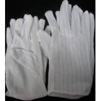 China CR0402 ESD Fabric PVC dotted gloves on sale