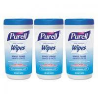 China PURELL Hand Sanitizing Wipes, 5.7 x 7 1/2, Clean Refreshing Scent, 40/Canister,18/Ctn wholesale