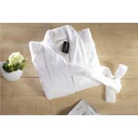 China Hot Selling Customized Quick Dry Luxury White Shawl Collar Wholesale Hotel Terry Cloth Bathrobe on sale
