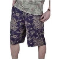 China Men's Relax Floral Print knee-length Summer Cotton Shorts wholesale