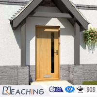 China Composite Door with a Little Glass and Post Hole Elegant Design Factory wholesale