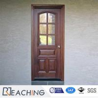 China Classic Solid Wood Framework Engrave Wood Door with Grid Glass wholesale