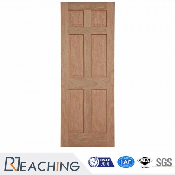Quality 6 Block Solid Wood Interior Door Without Painting Factory Design for sale