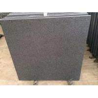 China Imported Natural Stone Indian Absolute Black Granite, Flamed Floor Tiles for Outdoor Granite Paver wholesale
