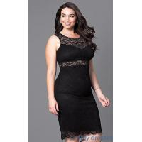 China Fitted Short Lace Plus-Size Cocktail Party Dress MB-MX1349 on sale