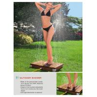 China Teak and Plastic LED Light Outdoor Shower on sale