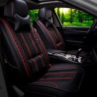 China Car Seat Cushion Car Seat Cover Full Set With Cushions, Univerdal Fit ,Leather Material on sale