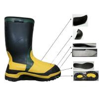 China Rubber Safety Boots For Men With Steel toe&Plate wholesale