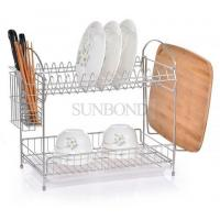 China 2 tiers kitchen dish drainer rack stainless steel dish rack wholesale