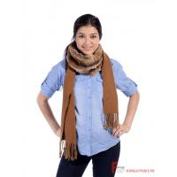 Fur Scarf & Shawl Rex Rabbit Fur Scarf With 100% Cashmere