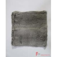 China Fur Blanket & Throw & Pillow Chinchilla Rabbit Fur Cushion wholesale