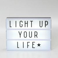 Used Widely A4 Lightbox With Maganetic Black Letters