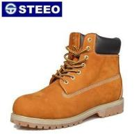 China Genuine leather lace-up high ankle goodyear welted safety shoes on sale