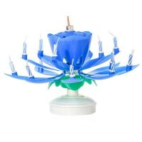 China Blue Musical Flower Birthday Candles wholesale