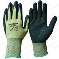 13G knitted seamless color nylon liner with latex coated ,wrinkle finished