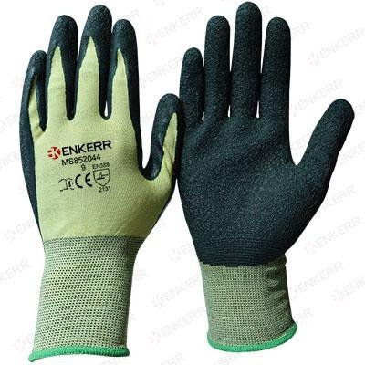 Quality 13G knitted seamless color nylon liner with latex coated ,wrinkle finished for sale