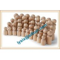 China Natural Unfinished Wooden Peg Doll Bodies wholesale