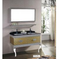 Buy cheap Double Basin Modern 304grade Stainless Steel Bathroom Vanity Cabinet from wholesalers