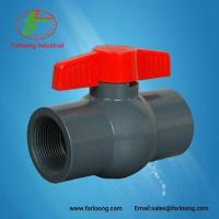 Buy cheap UPVC Red Handle Dark Grey Body Ball Valves from wholesalers