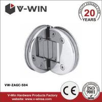 Buy cheap zamak 90 degree rounded shape glass door clamp from wholesalers