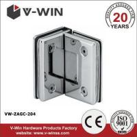 Buy cheap 90 degree double side glass door clamp from wholesalers