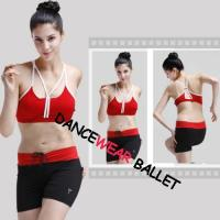 China Dance Active & Fitness Contrast Color Drawstring Shorts wholesale