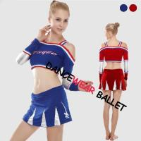 China Dance Active & Fitness Cheering Suit Crop Top And Skirts wholesale