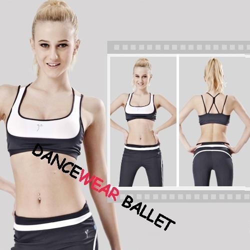 Quality Contrast Color Strap Back Dance Active & Fitness Bra And Pants for sale